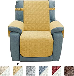 Chenlight Recliner Slipcover Furniture Protector Slip Resistant Waterproof Stain Resistant Machine Washable Sofa Cover for Kids Children Pets Dog Cat (Recliner:Sand)