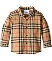 Burberry Kids - Fredrick Long Sleeve Pocket Shirt (Infant/Toddler)