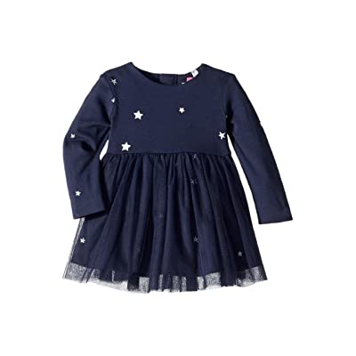 Joules Kids Party Dress (Infant) (Navy Star) Girl