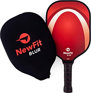 NewFit Blur Pickleball Paddle - USAPA Approved - Graphite Face & Polymer Core for a Quiet & Light Racket