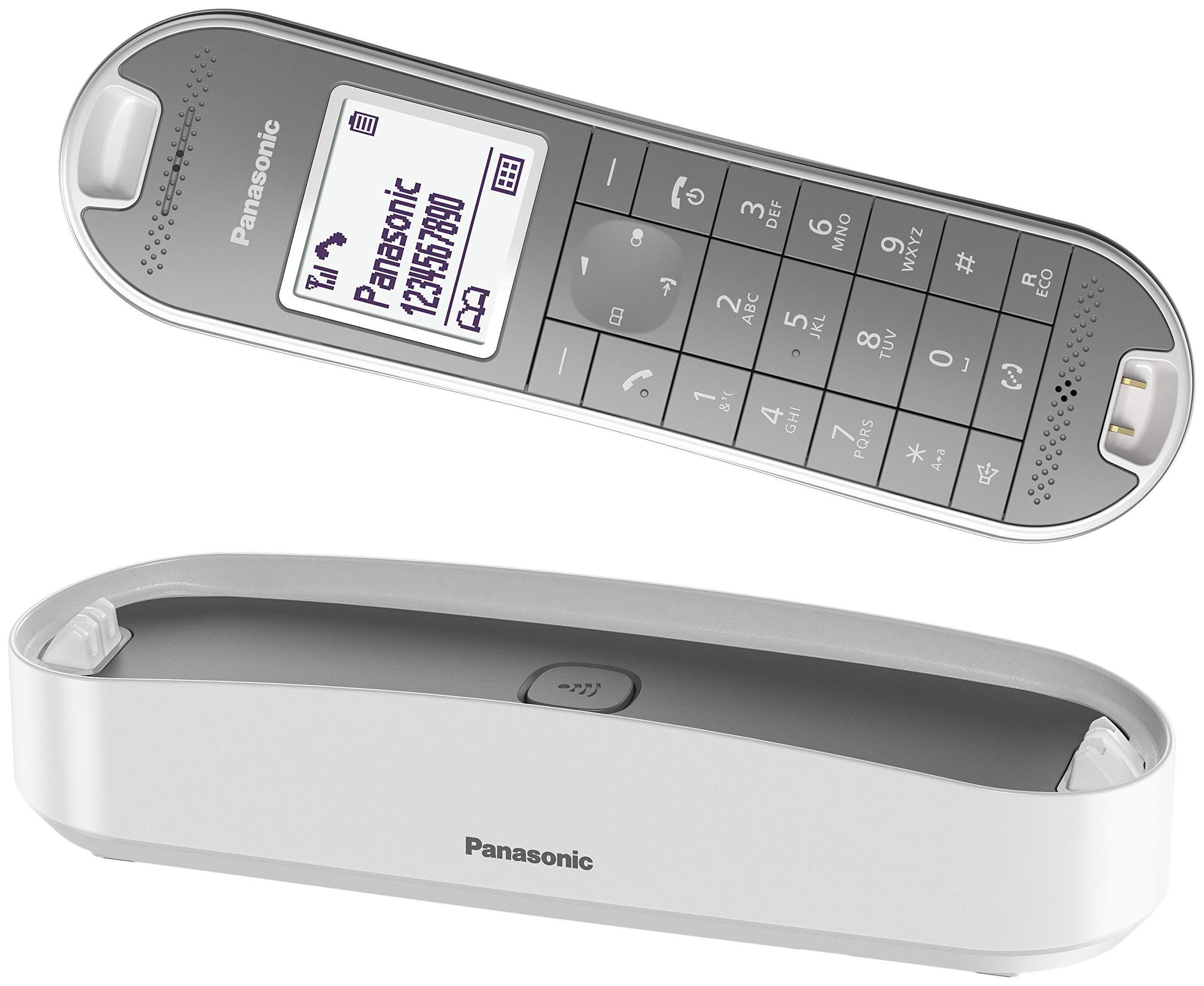 Panasonic KX-TGK310 - Teléfono fijo inalámbrico de diseño (LCD, identificador de llamadas, agenda de 120 números, bloqueo de llamada, modo ECO Plus), color blanco: BLOCK: Amazon.es: Electrónica