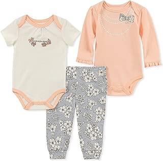 Calvin Klein Baby Girls' 3 Pieces Bodysuit Pant Set