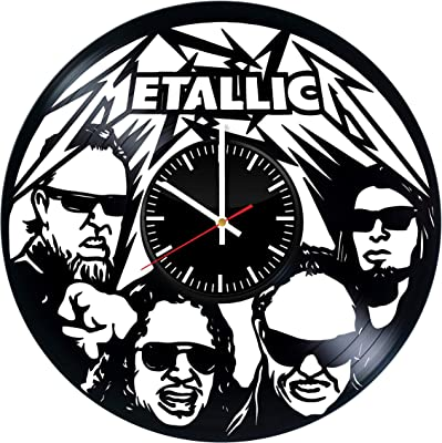 Metallica Figurines Gift Vinyl Record Wall Clock - Get Unique Bedroom or livingroom Wall Decor -