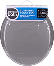 Ginsey Home Solutions Standard Soft Toilet Seat with Plastic Hinges, Grey