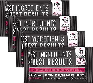 Barry Callebaut Chocolate Chips | All Natural | Certified Kosher | Gluten-Free, Dairy-Free, Nut-Free | Vegan | 9 oz bag (Semi Sweet Chocolate Chips, 4 Packs)