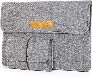 Karylax Laptoptas van vilt met tas (M-grijs) voor Lenovo Yoga Slim 9i 14 inch (35,6 cm)