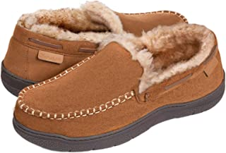 Men's Microsuede Moccasin Slippers Memory Foam House Shoes