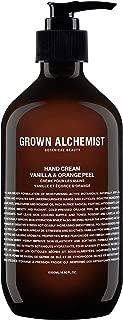Grown Alchemist Hand Cream - Vanilla & Orange Peel - Hand & Cuticle Lotion Made with Organic Ingredients (500ml / 16.9oz)