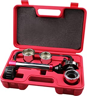 Kauplus Radiator and Cap Test Kit Cooling System Pressure Test Kit Radiator and Pressure Cap Test kit Coolant Pressure Tester