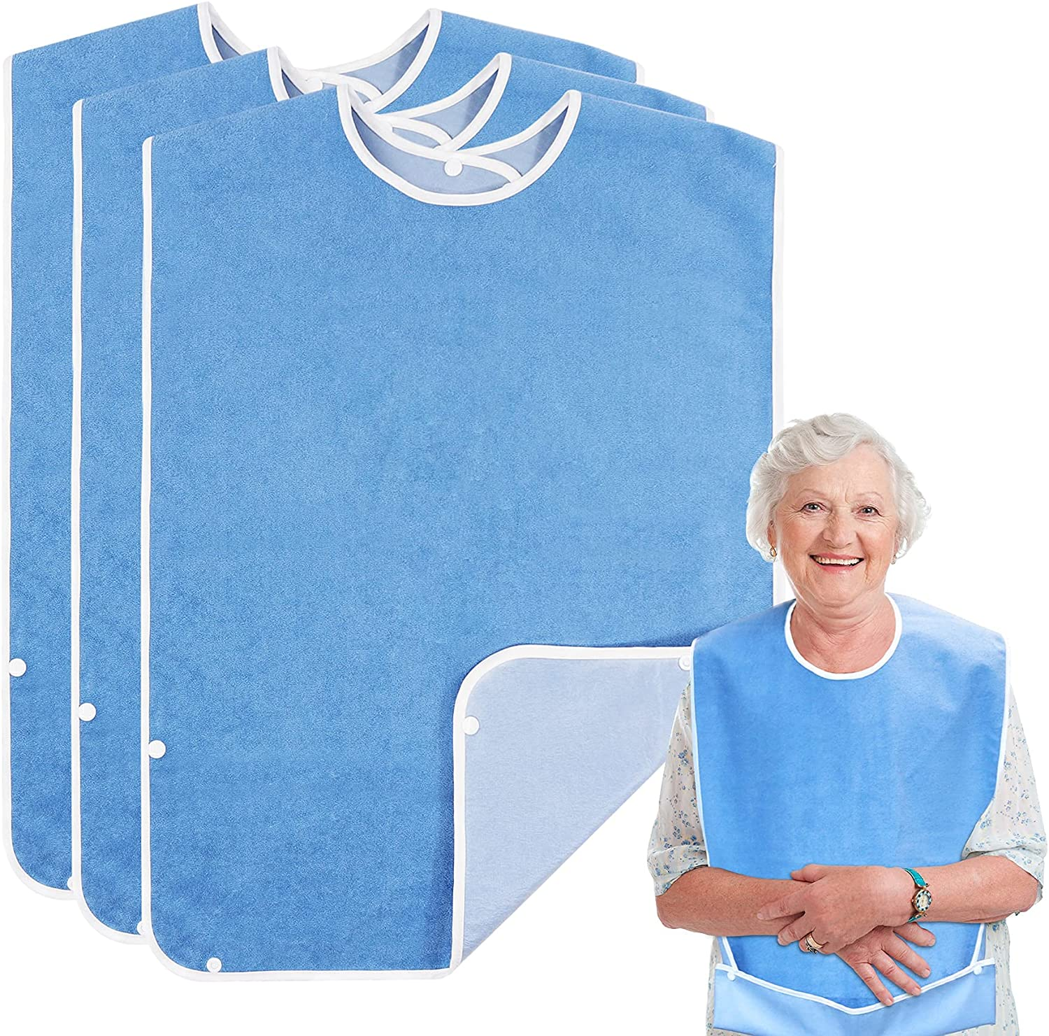 Adult bib for Eating half Clothing Direct store with Crumb Catcher Protector