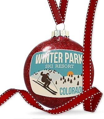 NEONBLOND Christmas Decoration Winter Park Ski Resort - Colorado Ski Resort Ornament