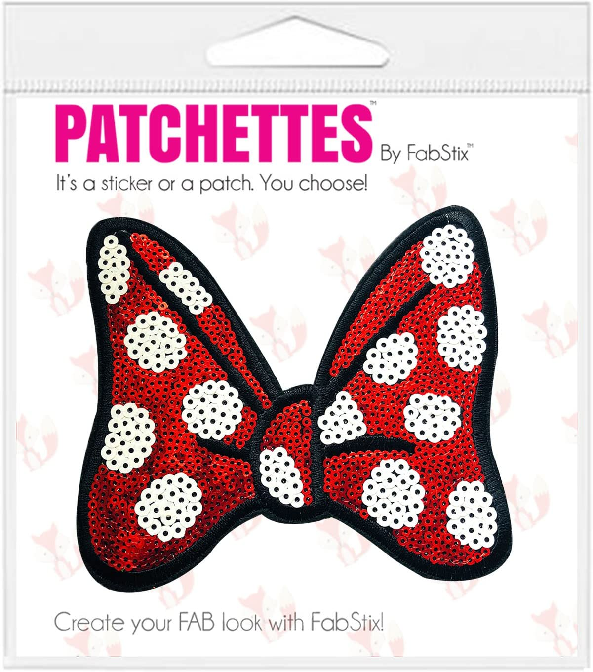 FabStix Sequin Bows Before Bros Iron on ! Super beauty product restock quality top! Appliqu trust or Patch Sticker