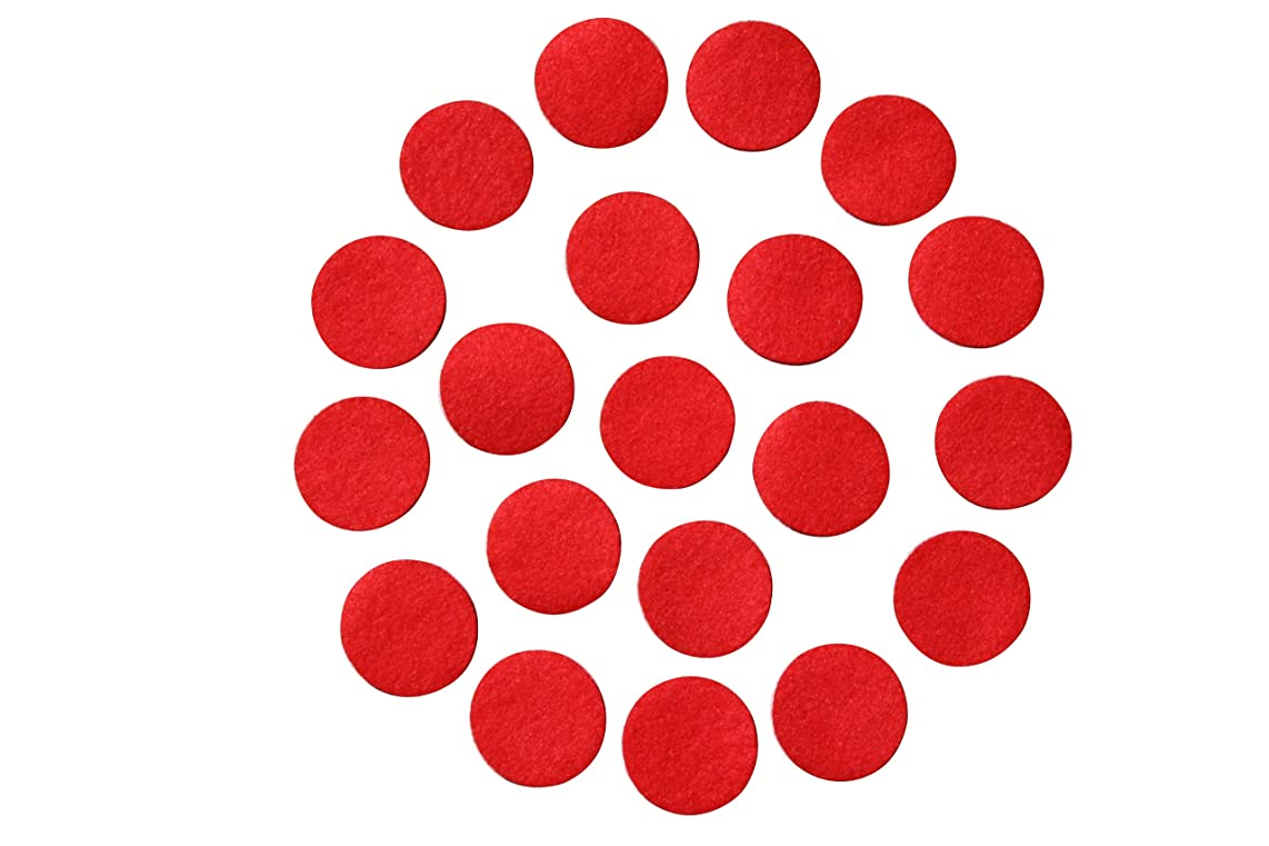 Red Adhesive Felt Circles; Package of 48 or 240 Wholesale, 1.5