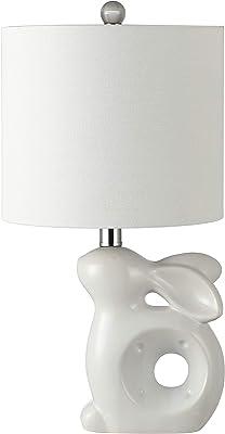 Safavieh KID4246A Lighting Ruby Rabbit White Ceramic Kids (LED Bulb Included) Table Lamp