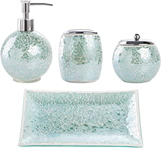Amazon Com Blue Bathroom Accessory Sets Bathroom Accessories