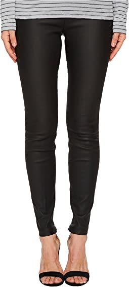 Vince Leather Zip-Ankle Leggings
