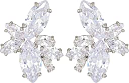 Nina - Floral Stone Cluster Stud Earrings
