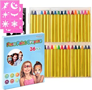 Zecti Face Paint Crayons for Kids, 36 Jumbo 3