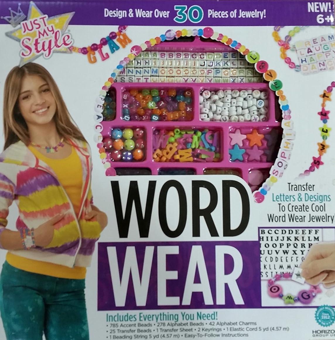 Just My Style Word Wear - Design & Wear Jewelry & Bead Kit