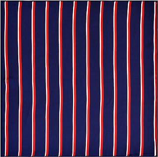 لوكس اكسسوارات الأزرق الداكن الأحمر الأبيض المشارب الطيران وشاح قماش عصري مستوحى