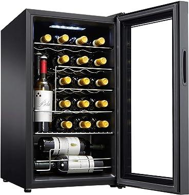 Wine Enthusiast 24-Bottle Compressor Wine Cooler with Upright Bottle Storage
