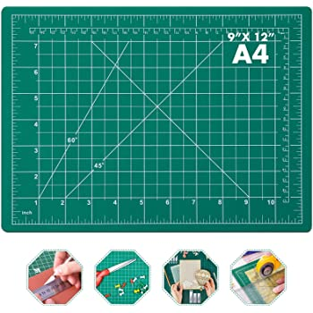 """Self Healing Sewing Mat, Anezus Rotary Cutting Mat Double Sided 5-Ply Craft Cutting Board for Sewing Crafts Hobby Fabric Precision Scrapbooking Project 9"""" x 12""""(A4)"""