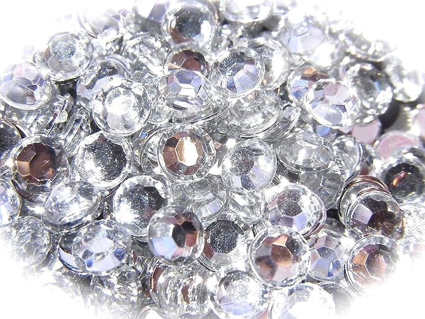 引き算一杯名目上の【jewel】ls1 最高品質 ラインストーン 1.5mm?5mm グルーデコ (5mm(100粒), クリア)