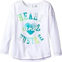 adidas Kids - Long Sleeve Heart and Hustle Tee (Big Kids)