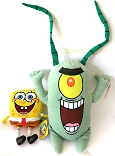SpongeBob SquarePants Plankton Soft Plush Doll New