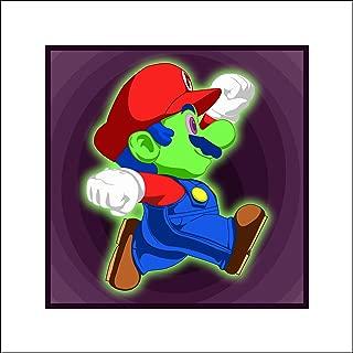 Plaid Design Radioactive Super Mario Fine Art Print - 16x16 - Signed/Numbered Limited Edition Pop Art Giclée - Artwork by John Lathrop