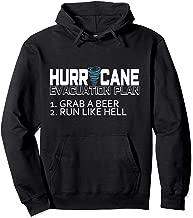 Funny Hurricane Hoodie Hurricane Evacuation Plan Grab Beer