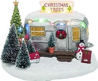 Vintage Light Up Christmas Village Camper – Tabletop Holiday Decoration