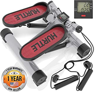 Fitness Exercise Elliptical Twister Stepper - Upgraded Quality Steel, Easy Standing Workout, Digital Display, Resistance Band Elliptical Trainer Burns 15% More Calories Than an Exercise Bike