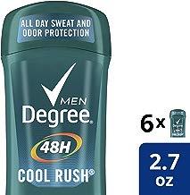 Degree Men Antiperspirant Deodorant odor and sweat protection Cool Rush 48 hour 2.7 Oz ,Pack of 6