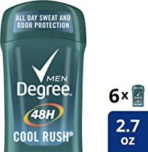 Degree Men 48 hour Antiperspirant Cool Rush, 2.7 Ounce (Pack of 6)