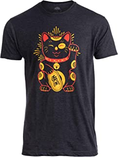 Maneki-Neko Lucky Cat | Cool Japanese Good Luck Charm Japan T-Shirt Men Women