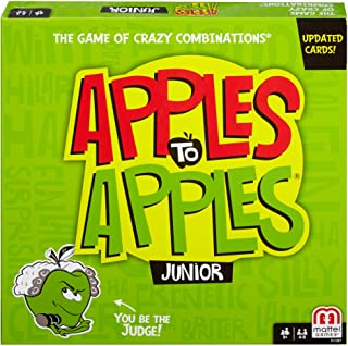 Mattel Games Apples to Apples Junior - The Game of Crazy Comparisons (Packaging May Vary), Red,Green, One Size (N1387)