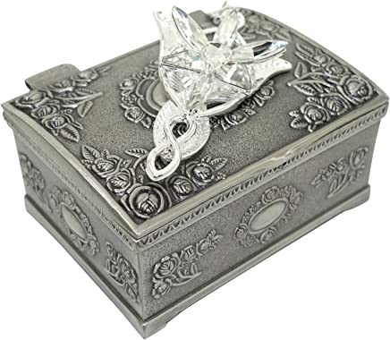 Wo-dreams Lord of the Rings Arwen's Evenstar Pendant Necklace with Jewelry Box,Lord of the Rings Necklace,Great Gift for The Lord of the Rings Fans Clistmas Gifts