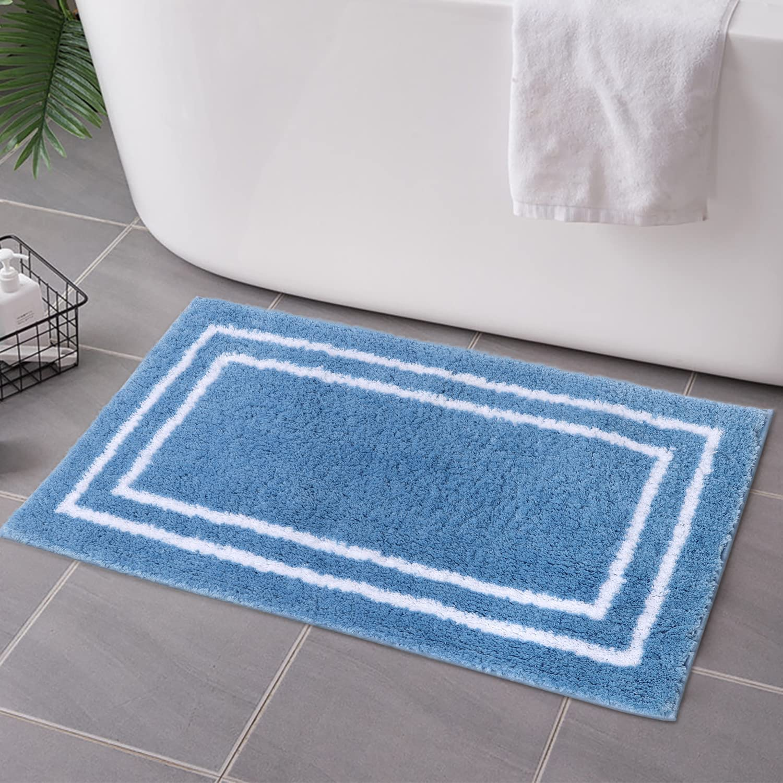 Uphome Blue Bathroom Rugs 18