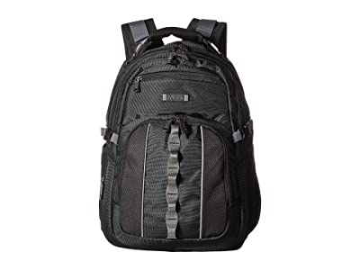 Kenneth Cole Reaction Pack Down Polyester Backpack (Black) Backpack Bags