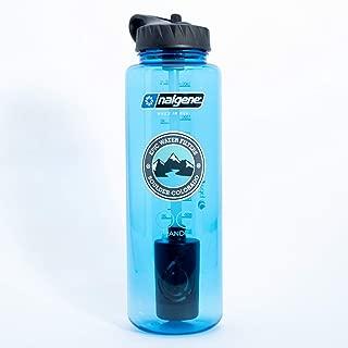 Epic Nalgene OG Grande | Water Filtration Bottle | Wide Mouth 48 oz | USA Made Bottle | American Made Filter Removes 99.99% of Tap Water Contaminants Lead Chlorine Chromium 6 Arsenic Chloroform