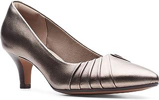 حذاء بكعب للنساء من كلاركس، مقاس, (برونزي), 7 UK