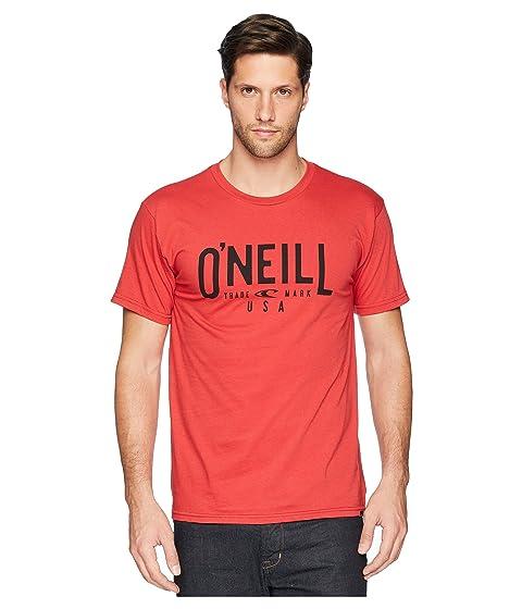 de de corta roja camiseta con Camiseta manga registro O'Neill dXwvggq