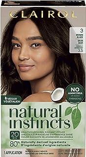Clairol Natural Instincts Semi-Permanent Hair Color, 3 Brown Black, 1 Count