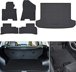 Cqlights RDX Cargo Liner for 2019 2020 2021 Acura RDX Trunk Liner Tray Heavy Duty Rubber Rear Cargo Area Mat Waterproof Protector Floor Mat Black