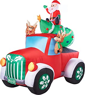 retro truck with tree inflatable