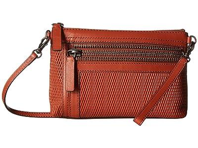 Frye Lena Perf Wristlet Crossbody (Spice) Handbags