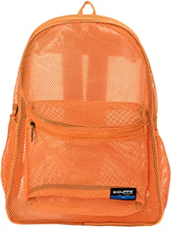 Heavy Duty Classic Gym Student Mesh See Through Netting Backpack  35f9911a97f20