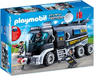 Roll over image to zoom in Playmobil 9360 City Action SWAT Truck with Working Lights and Sound