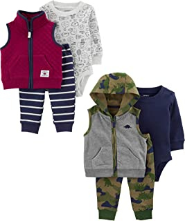 Carter's Baby Boys 2-Pack 3-Piece Vest Set